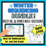 Digital AND Print Winter Sequencing Activity for Kindergar