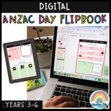 Digital ANZAC Day Flipbook (Distance Learning Grades 3 - 6)
