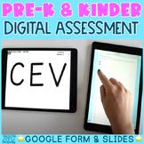 Pre-K & Kindergarten Assessment | Fully DIGITAL Google Sli