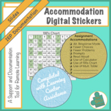 Digital Accommodation Stickers for Remote Learning