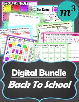 Digital Activities: Back to School Bundle