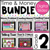 Valentine Time and Money BUNDLE | Digital Valentine's Day Activities