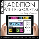 Digital Activities for 2 Dig Addition With Regrouping (SEESAW, GOOGLE SLIDES,PP)