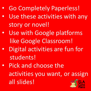 Digital Activities for Any Story or Novel ~ Middle School ELA