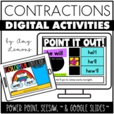 Digital Activities for Contractions {Seesaw, Google Slides