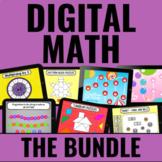 Digital Math Centers BUNDLE for Guided Math | Google Slide