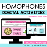 Digital Activities for Homophones (Google Slides)
