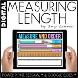 Digital Activities for Measuring Length (SEESAW, GOOGLE SLIDES, PP)