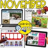 Digital Activities November: Hibernation, Turkeys, Electio