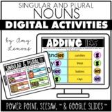 Digital Activities for Plural Nouns {Seesaw, Google Slides, PowerPoint}
