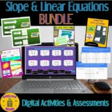 Digital Activity BUNDLE for Slope and Linear Equations on Google Apps