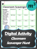Digital Activity: Classroom Scavenger Hunt