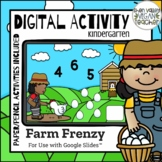 Digital Activity Google Classroom Math Review Kindergarten