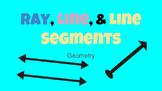 Digital Activity-Line, Line Segments, and Ray