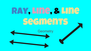 Digital Activity-Line, Line Segments, and Ray