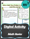 Digital Activity: Math Story Problem
