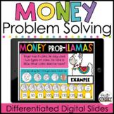 Money Word Problems | Digital Valentine's Day Activities