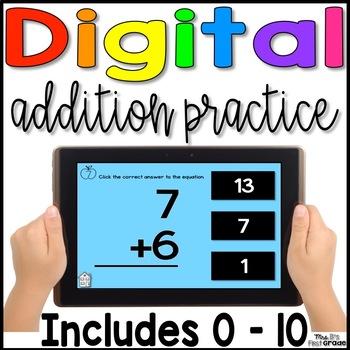 Digital Addition Fact Practice 0 - 10