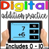 Digital Addition Fact Practice 0 - 10