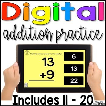 Digital Addition Fact Practice 11 - 20