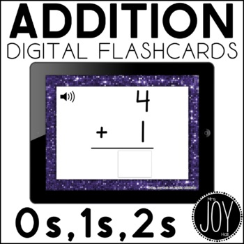 Digital Addition Flashcards for 0s, 1s, and 2s