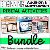 Digital Addition & Subtraction Bundle (Seesaw, Boom, Google)
