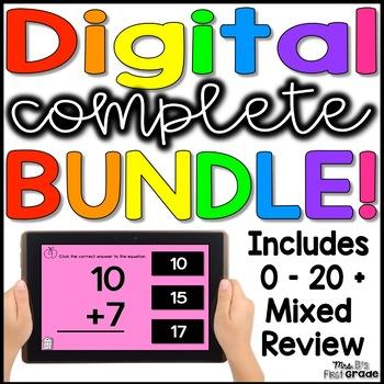 Digital Addition & Subtraction Fact Practice 0 - 20 BUNDLE