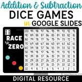 Digital Addition & Subtraction Games   Dice Games in Google Slides