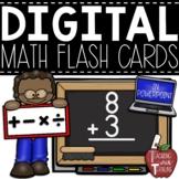 Digital Addition, Subtraction, Multiplication, and Division Flash Cards {BUNDLE}