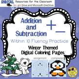 Digital Addition & Subtraction Practice, Coloring, Google, Microsoft OneDrive