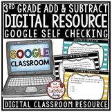 Digital Addition & Subtraction Word Problems 3rd Grade Math TEKS 3.4A Task Cards