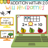 Addition Within 20 with Ten Frames Google Classroom