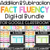 Digital Addition and Subtraction Fact Fluency Practice Bun