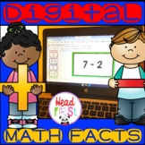 Digital Addition and Subtraction Math Facts Flashcards for Google Slides