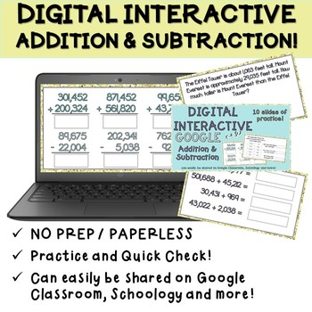 Digital Addition and Subtraction Practice