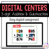 Digital Addition and Subtraction centers for third grade