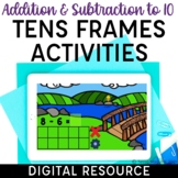 Digital Addition and Subtraction to 10 Tens Frames Activities