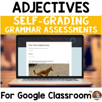 Digital Adjectives SELF-GRADING Assessments for Google Classroom