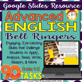 Digital Advanced English Bell Ringers - Remote Learning