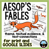 Aesop's Fables Reading Passages and Questions for Google a