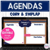 Digital Agenda Cork Board Templates | Editable Google Slid