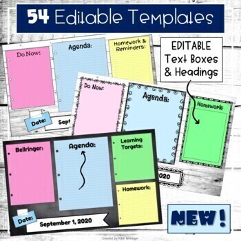 Digital Agenda Templates | Editable Google Slides