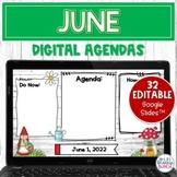 Digital Agenda Templates - June | Editable Google Slides