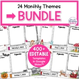 Digital Agendas Bundle | Monthly and Seasonal Themes | Edi
