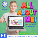 Digital All About Me Activity -  for Distance Learning