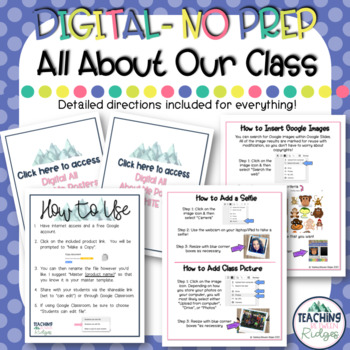 "Digital ""All About Me"" Class Book - Google Classroom"