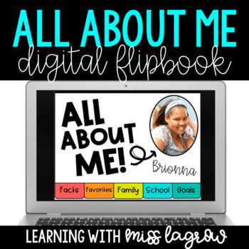 Digital All About Me Student Flipbook Slideshow