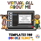 Digital All About Me Templates  Virtual All About Me for G