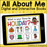 Digital All About Me and Meet the Teacher Books   Distance Learning
