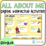 Digital All about me English-Spanish ESL for Google Classroom™